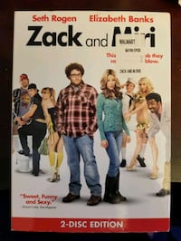 ZACK AND MIRI - 2 DISC EDITION **DVD** LIKE NEW**