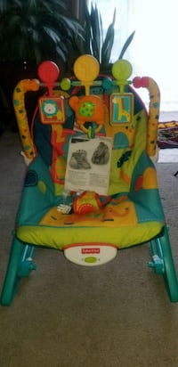 Infant vibrating chair w/toy bar 59 km