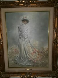 painting of brown wooden frame 2292 mi
