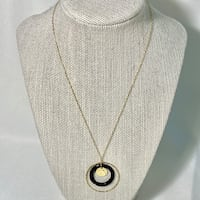 Vintage 14k Yellow Gold Black Onyx Necklace Chain Ashburn, 20147
