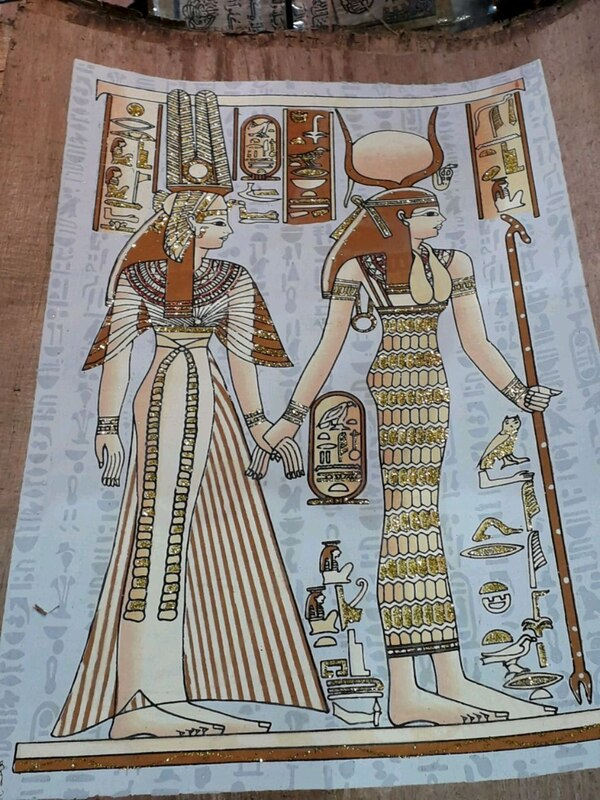 A4 EGYPTIAN PAPYRUS PICTURE 2