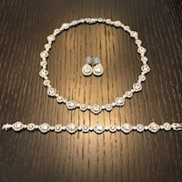 white and silver beaded necklace New York, 10304