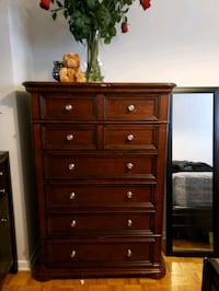 brown wooden 6-drawer dresser Toronto, M4K 2G1