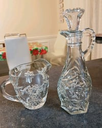 set of 2 crystal pcs. like NEW.  $8.