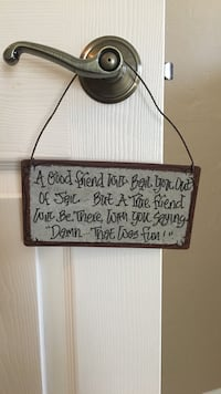 grey and black quotes hanging decor