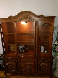 Solid wood china cabinet with glass shelfs cabinet Kitchener, N2A 1T1