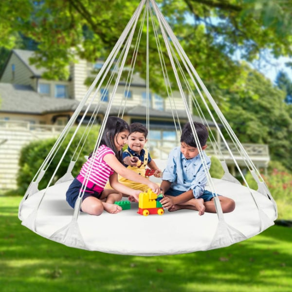 Hanging Swing Nest with Pillow Double Hammock Daybed saucer Style Loun