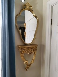 Beautiful French louis xv mirror and shelf gold le New Orleans, 70130