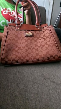 brown monogrammed Coach leather tote bag Lafayette, 70501