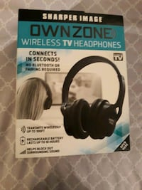 Sharper Image Ownzone Wireless TV Headphones