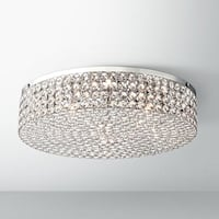 Velie 16 Wide Round Crystal Ceiling Light (BRAND NEW) Toronto