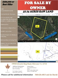 FSBO For Sale by Owner RAW LAND 37 Acres Elkwood, Virginia Elkwood
