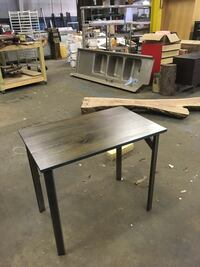Reclaimed oak table with tinted grain