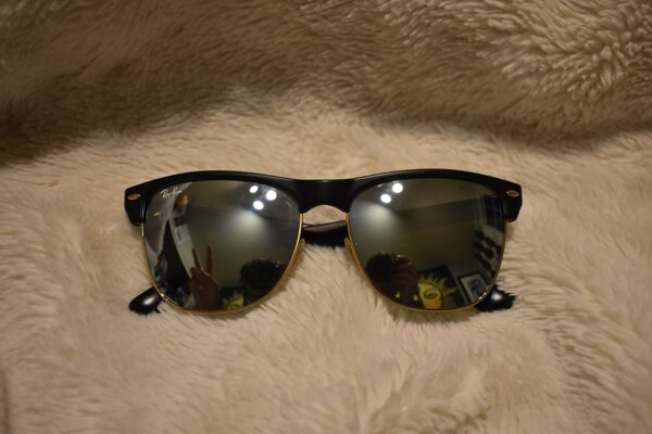 d5a1c53ecb Used Ray Ban Clubmaster Oversized Sunglasses with Flash Lenses for ...