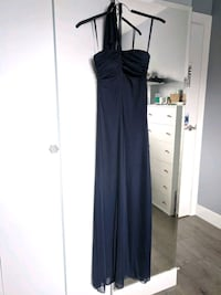 Navy dark blue evening full length dress  Richmond, V7E