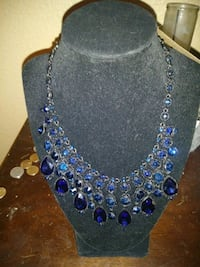 blue and silver beaded necklace Houston, 77039