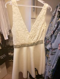 white dress with crystal belt Newmarket