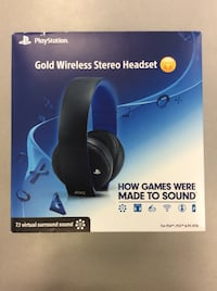 Playstation Gold Wireless Stereo Headset - Complete in Box Mississauga, L5J 1J7