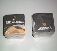 Strongbow Cider Paper Coasters 2 Sided 4 x 4 London