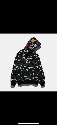 Authentic XL Black Camo Bape hoodie Vaughan, L4J