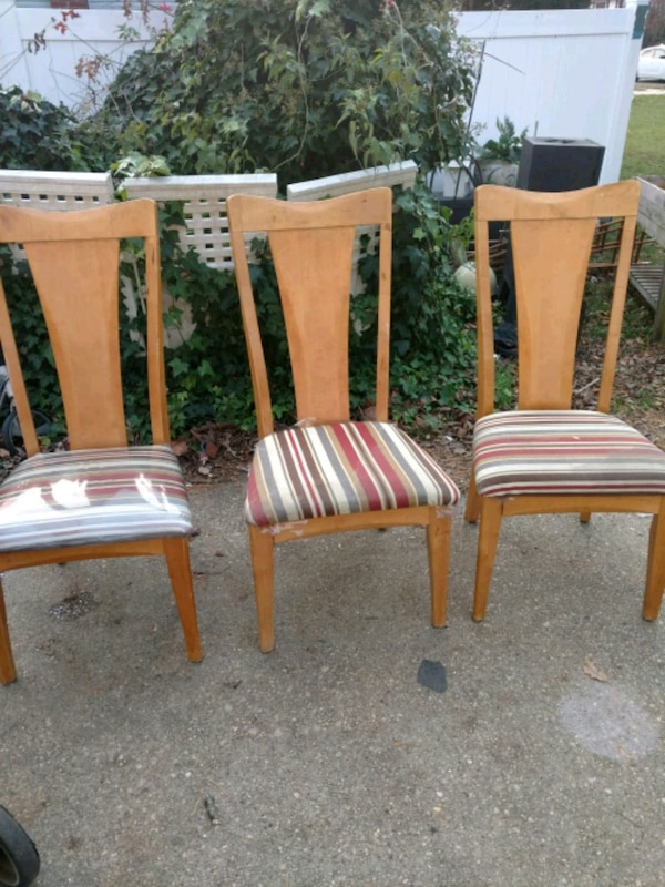3 High Back Kitchen Chairs