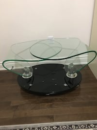 black and white glass top table Mississauga, L5R 4H8