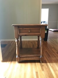 Antique Oak side table/night stand