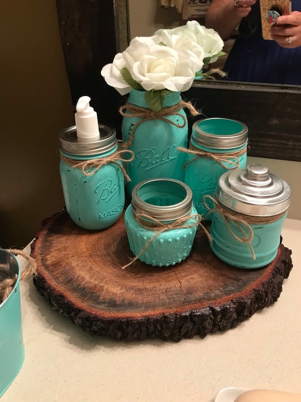 Used New Rustic Bathroom Set For
