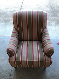Pottery barn striped cloth chair