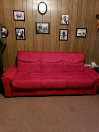 red suede 2-seat sofa Estill Springs, 37330
