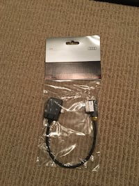 New Genuine Audi adapter for Apple iPod/iPhone with lightning connector. Irvine