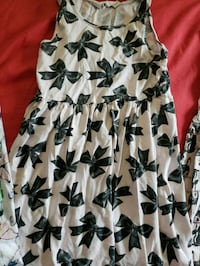 white and black floral sleeveless dress Montreal