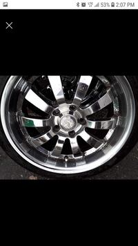 Set of rims an tires