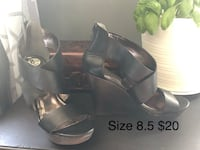 Size 8.5 leather wedges Cambridge, N1R