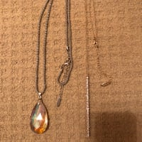 Necklaces one gold and one silver crystal for $25.00 both together ! Richmond Hill, L4C 8Y1