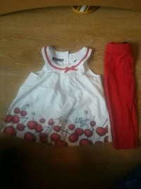 white and red floral sleeveless dress Gatineau, J8P 0G8