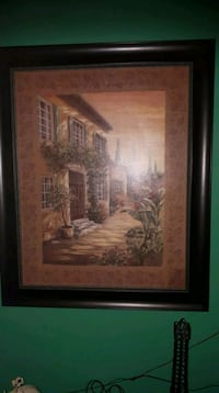 brown wooden framed painting of house Laval, H7E 4P2