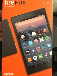 Fire HD 8 Alexa Like New Box