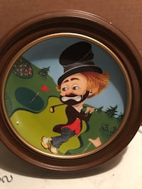 Collectors plate - Freddie on the green Red Skelton Downey, 90241