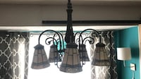 Dinning room ceiling lamp works great. antique bronze color with colored glass globes!  Columbus, 43123