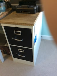 Filing cabinet with 100+ year old reclaimed wood top.   (3x)  Purcellville, 20132