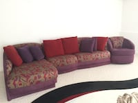 Red, beige, and purple sectional couch South Barrington, 60010