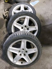 Acura TL rims and winter tires set of 3. Two seasons left.   Toronto, M1P 3A6