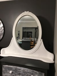 Stunning mantel or dresser mirror. Upscaled with white Fusion. Deliver