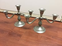 Pewter candle holders from Holland. London, N6J 3Z6