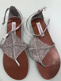 women's pair of brown and white sandals College Park, 20740