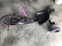 Purple and black drift trike