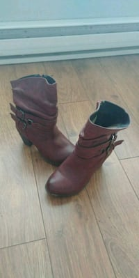 pair of red leather boots Kelowna, V1X 5C6