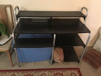 black wooden single pedestal desk Albuquerque, 87108