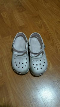 Baby pink Crocs rubber clogs Burnaby